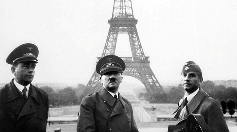 World War Two Timeline - Hitler in Paris after the Fall of France
