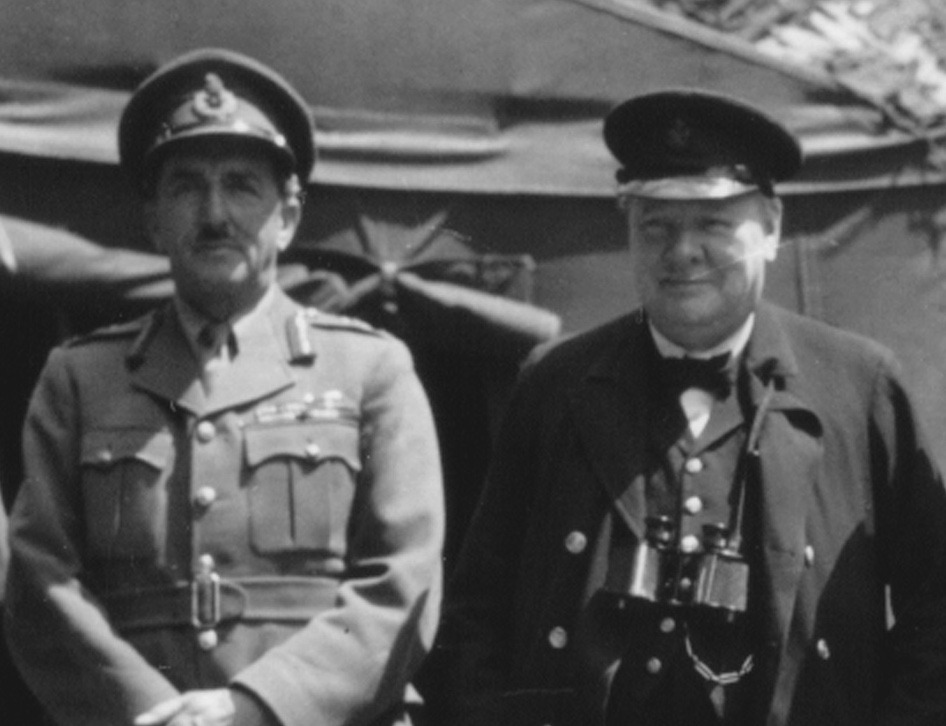 General Alan Brooke with Winston Churchill