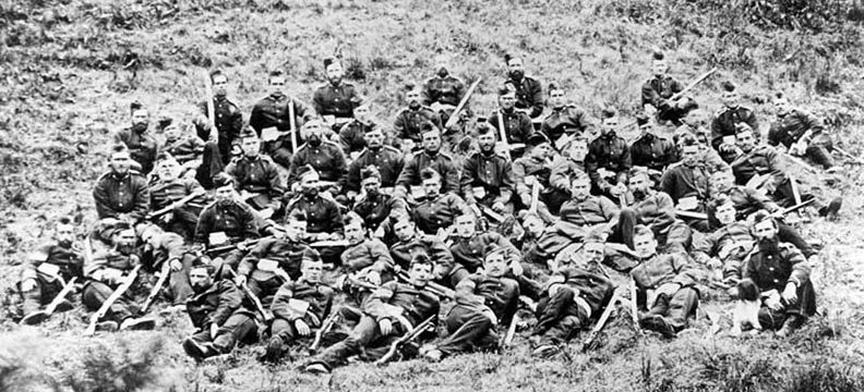 A photo of the actual men who fought at Rorke's Drift relaxing after the Battle