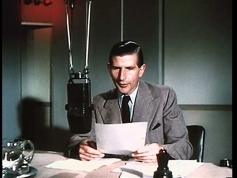 Alvar Lidell reading the news
