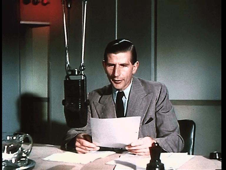 Alvar Lidell reading the news