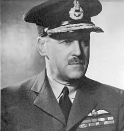 Air Vice-Marshall Trafford Leigh-Mallory - Commander (AOC) 12 Group during the Battle of Britain