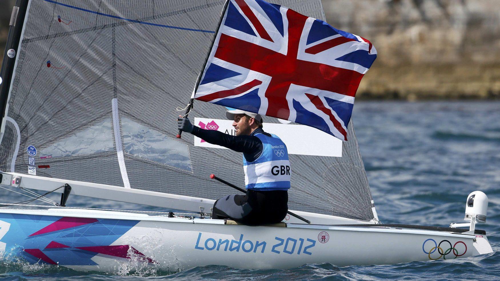Britain's_Ben_Ainslie_celebrates_winning
